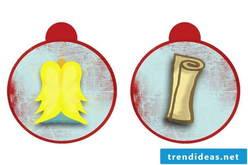 Christmas motives for printing template day 15 and 16