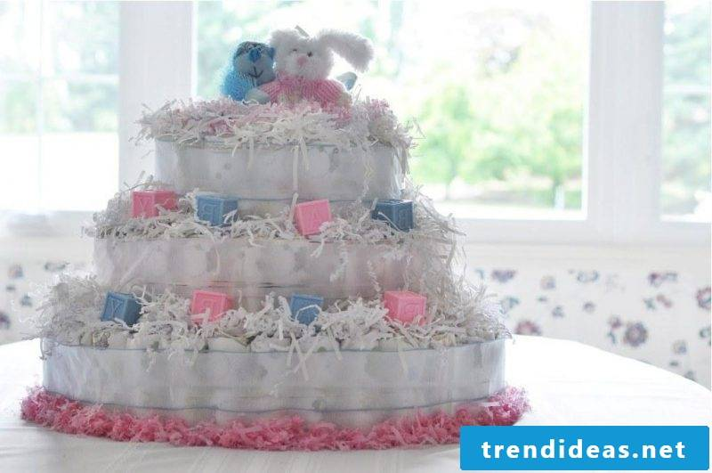 Instructions diaper cake baby
