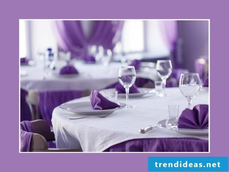Napkins Folding Fan Purple Decoration