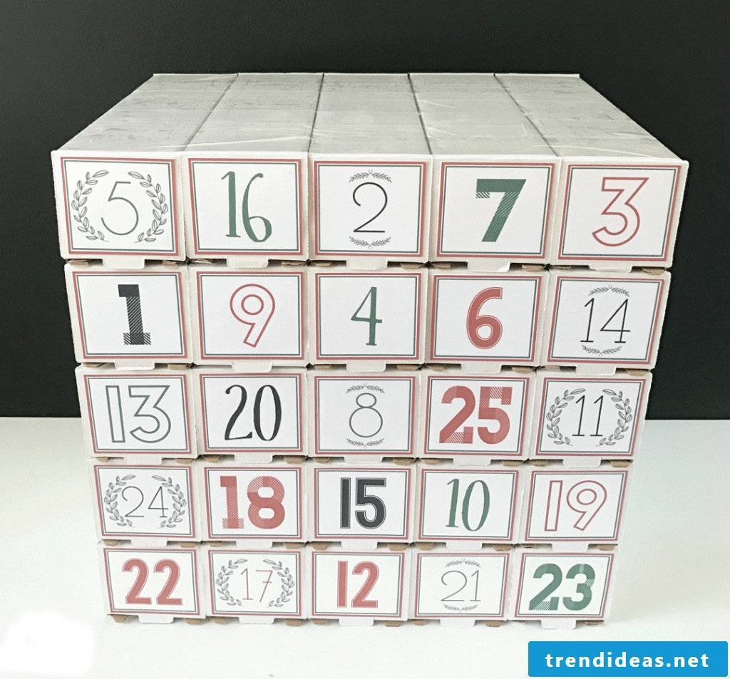 Make gifts for men - Advent calendar for men