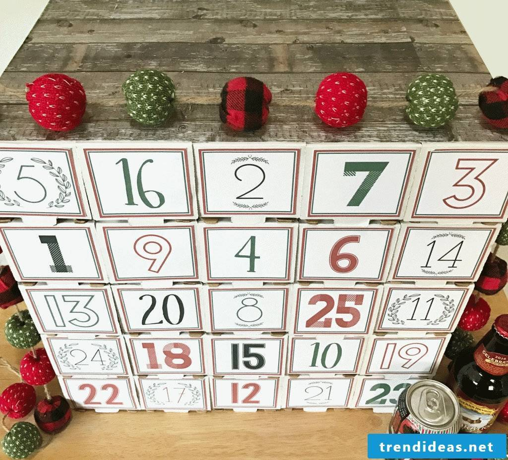 Homemade advent calendar for men