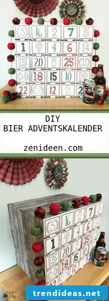 Advent Calendar for Men - DIY Instructions