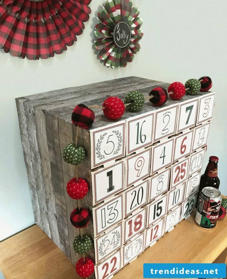 Advent calendar for men - making beer advent calendars yourself