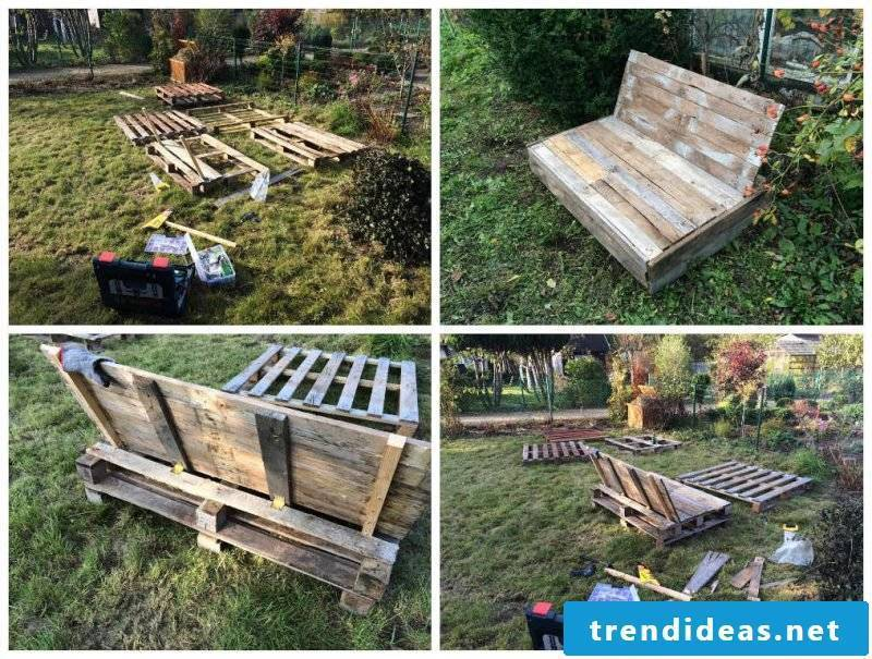 Sofa made of Euro pallets DIY project