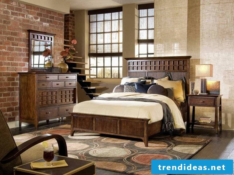 Bedroom after vintage apartment facilities