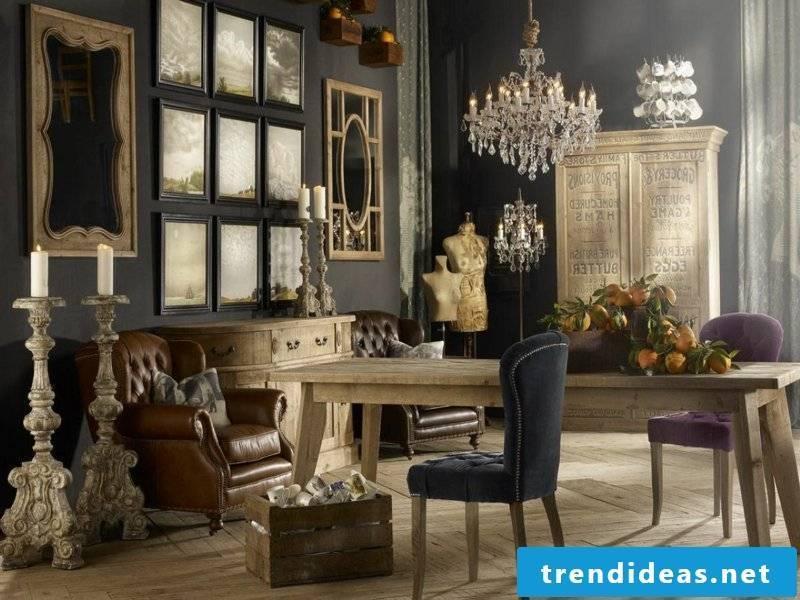 vintage design in the living room