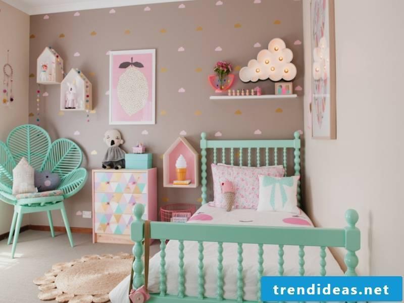pastel colors in vintage nursery