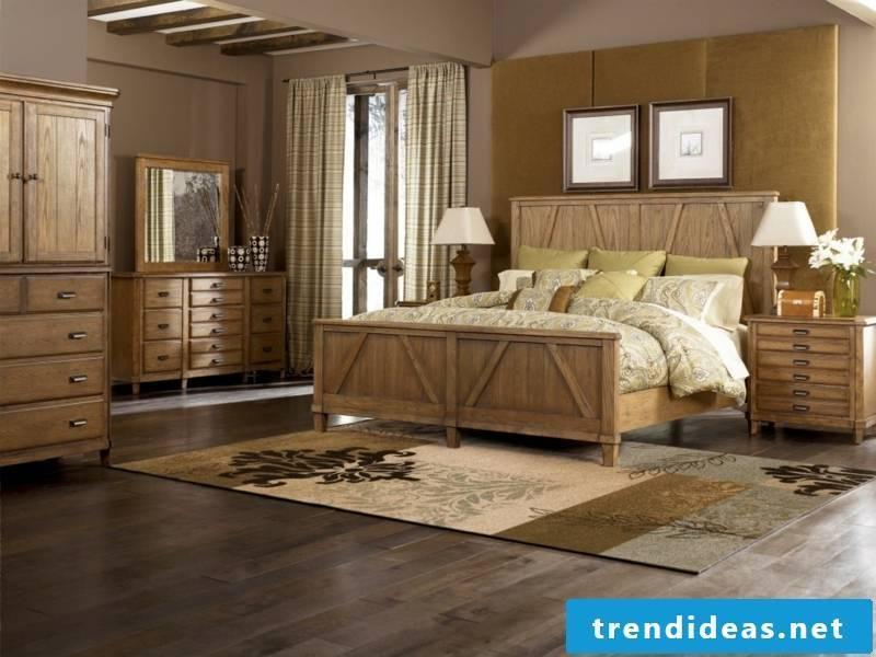 bedroom in vintage style