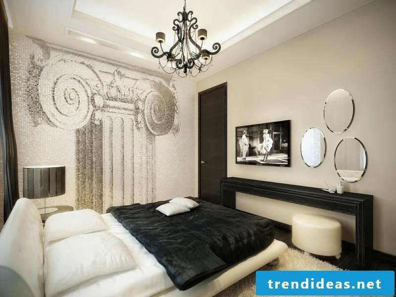 Vitage bedroom in classic colors