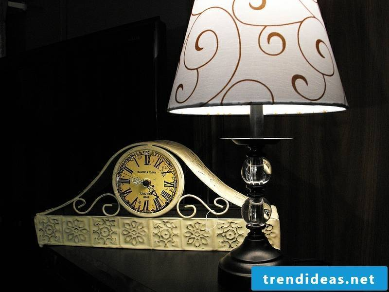 vintage lamp as an accent