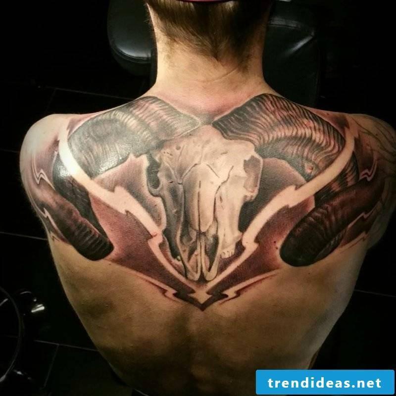 Aries tattoo Attractive Aries