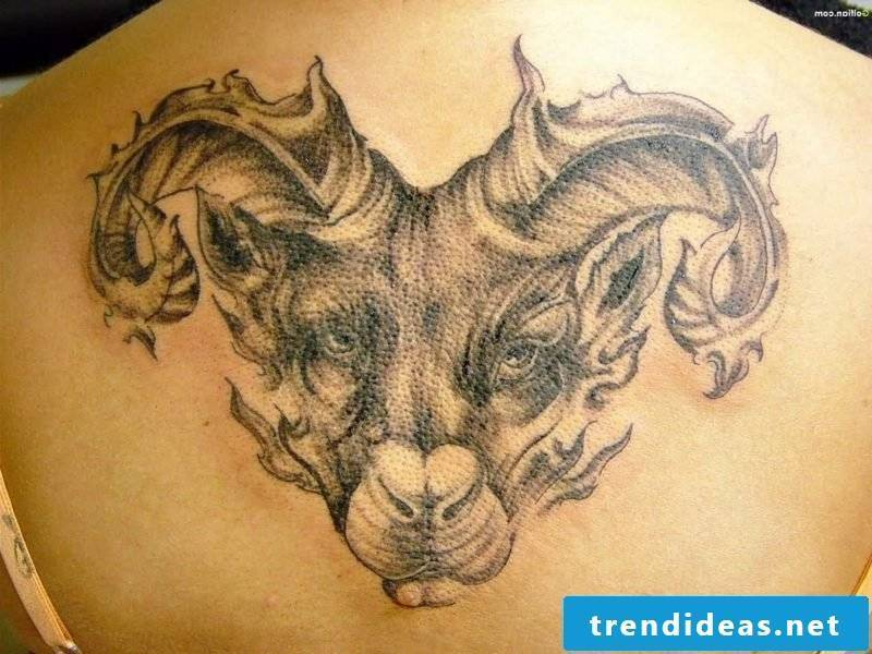 Aries tattoo Back Aries