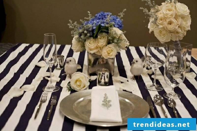 Floral arrangements festive table decoration