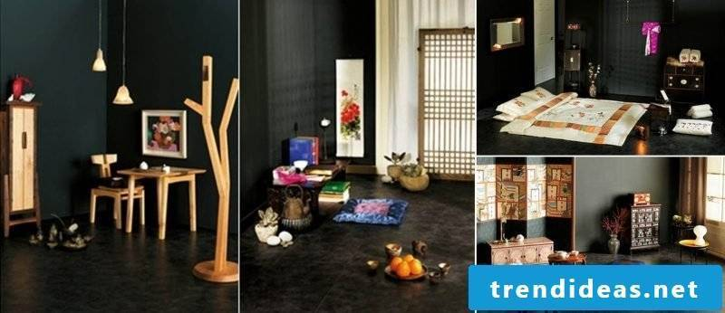 Asian furniture gives a charming look