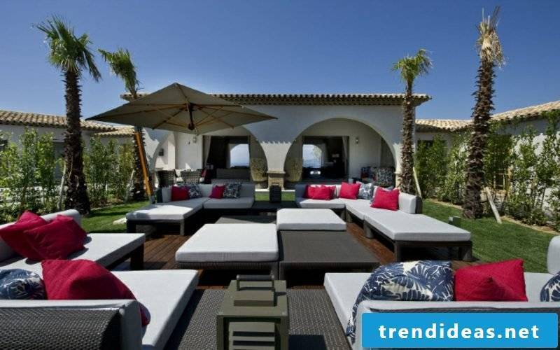 lounge furniture outdoor exterior ideas - small corner couch