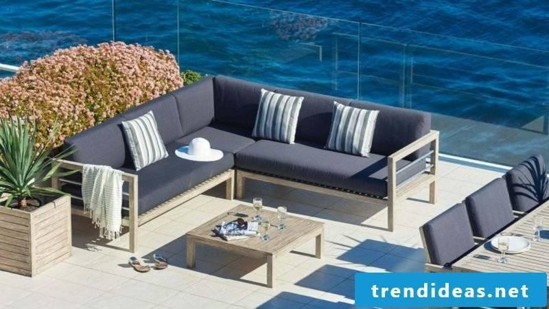 outdoor furniture set in blue