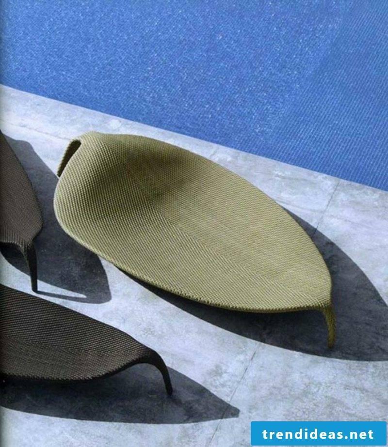 outdoor furniture Unique Leaf Wicker Chaise sofa semicircular