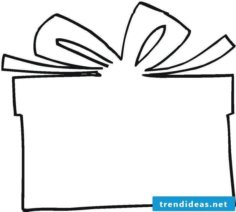 Christmas motives for printing template gift