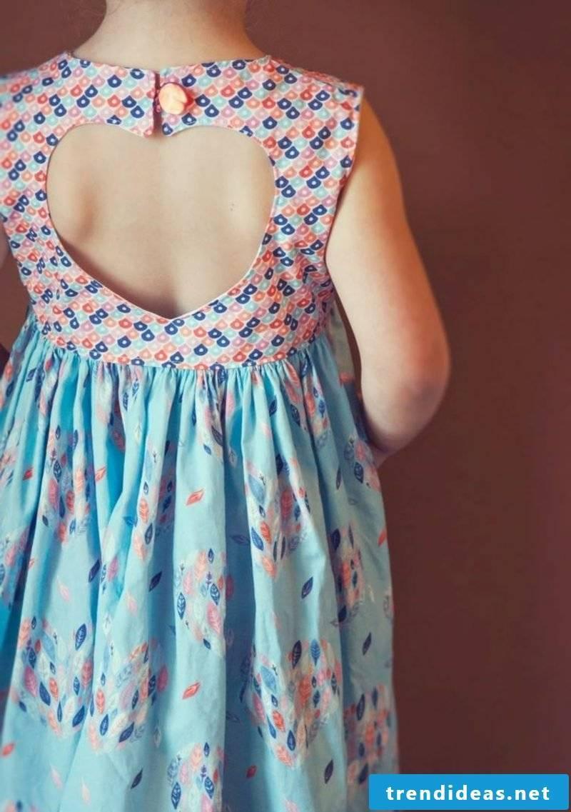 Children's clothing sew summer dress of two fabrics