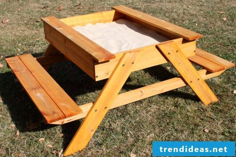 Sandbox build DIY table