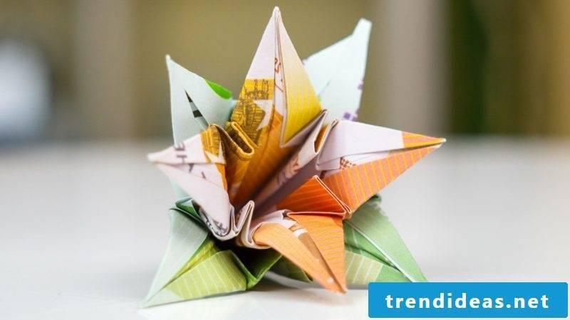 interesting flower banknotes DIY