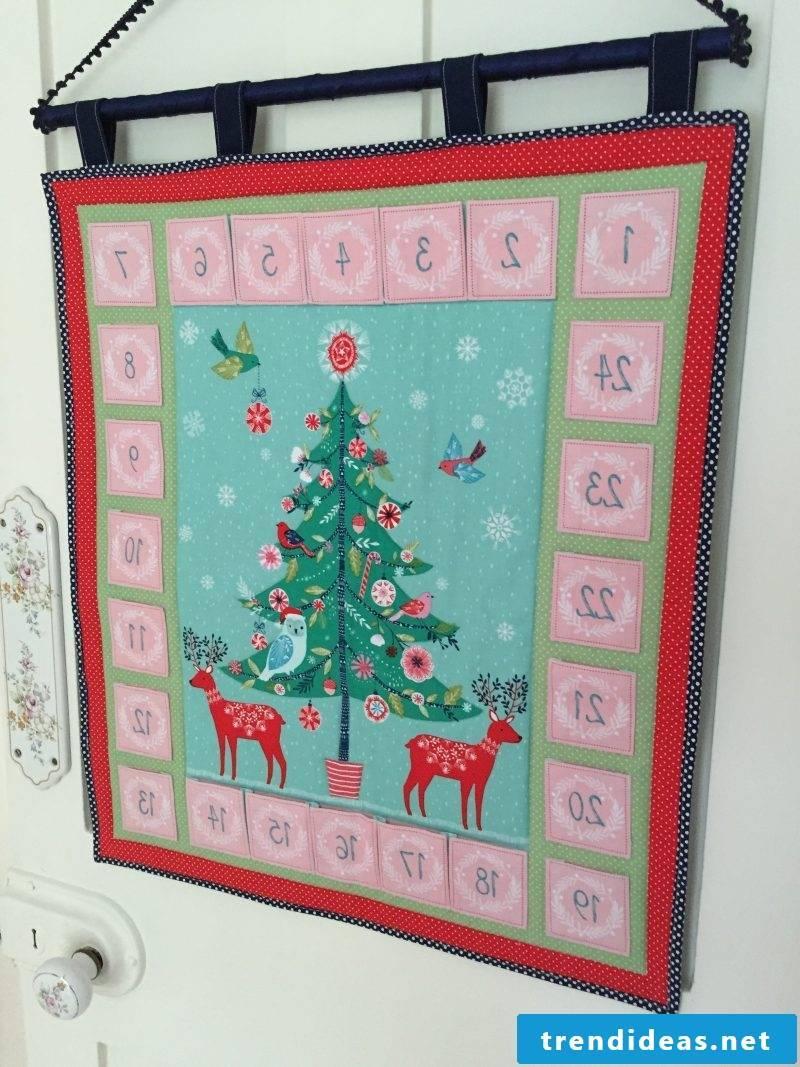 Sew Advent Calendar - Instructions Step 1