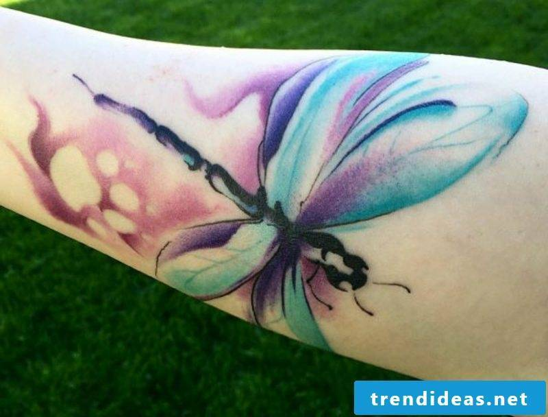 original dragonfly tattoo colorful