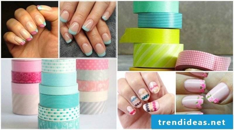 Nail art French colors