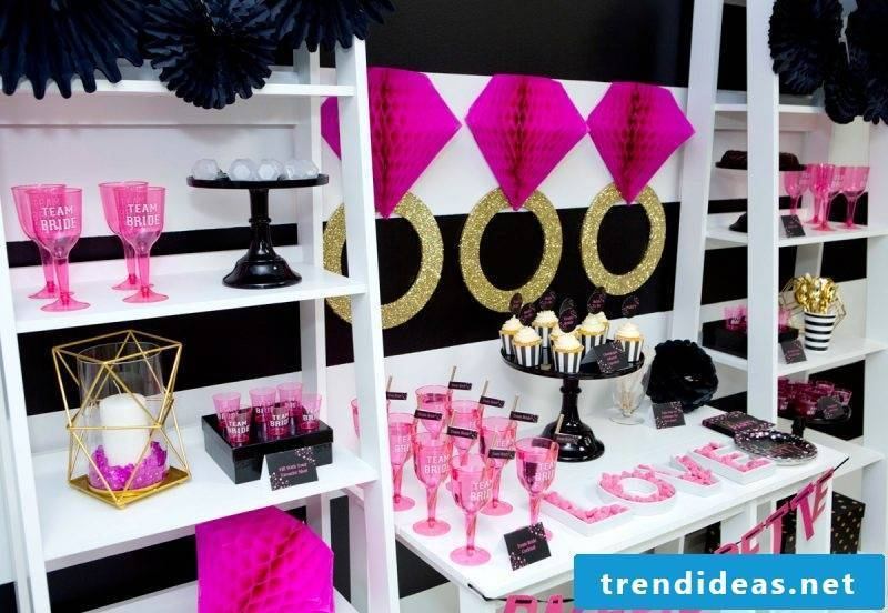 Bachelorette Party Decoration Trend - Pink and Gold