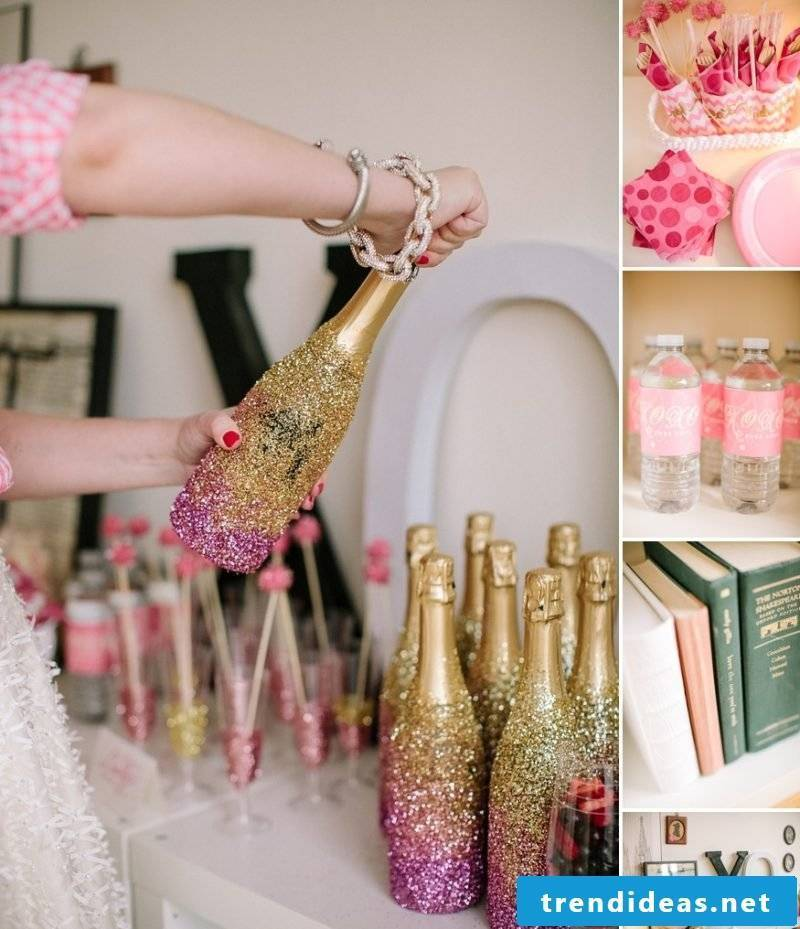 Bachelorette Party Glitter Deco
