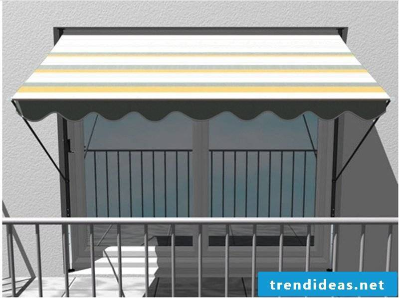 Balcony awning stripes classic design