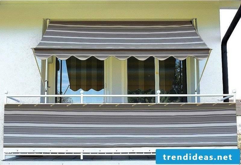 interesting balcony awning darker colors