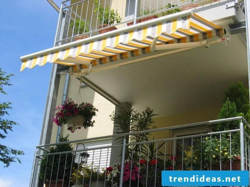 interesting balcony awning stripes