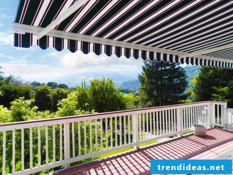 Balcony awning elegant