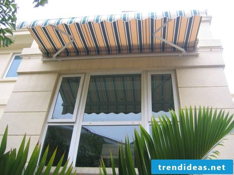 interesting awning striped