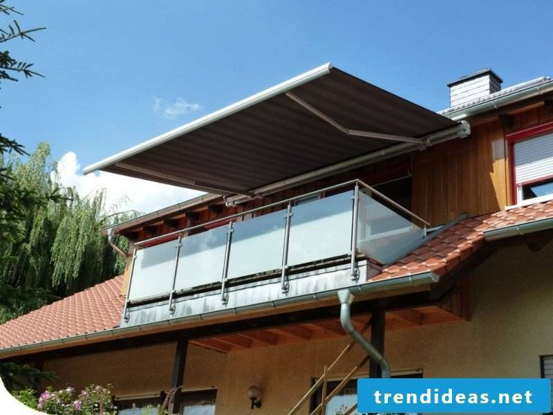 Balcony awning metal