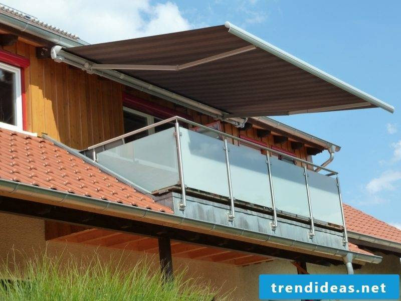 stable balcony awning made of metal