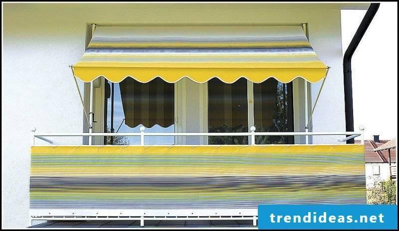 Klem awning strips balcony awnings