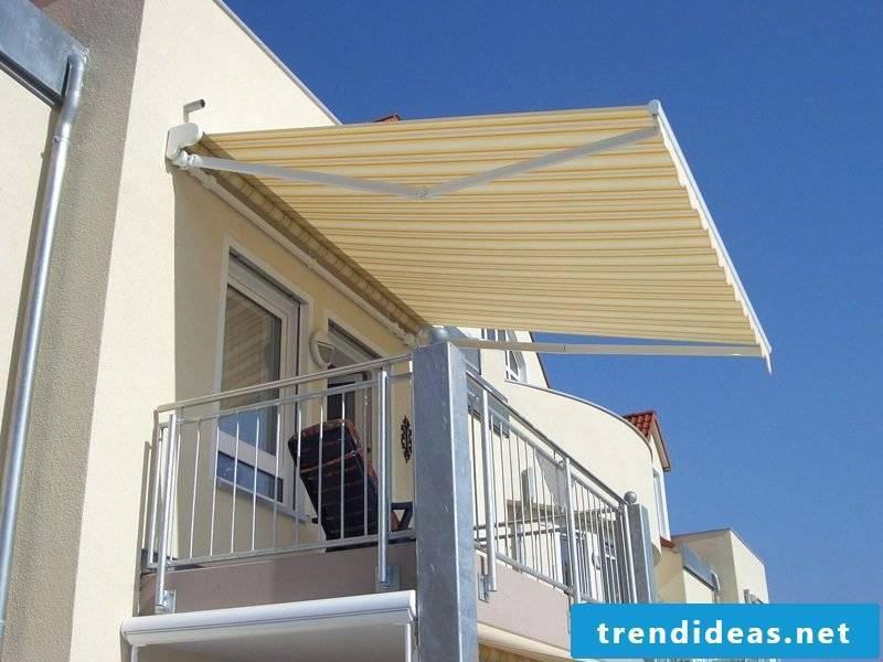 Balcony awning original color scheme