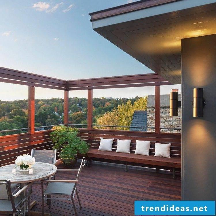 balcony facing cozy