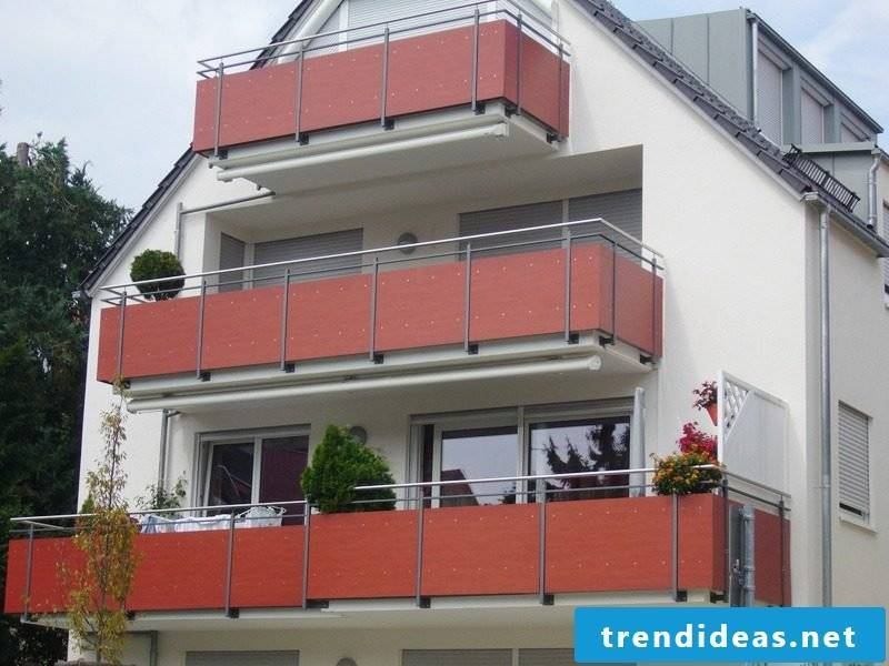 balcony cladding red