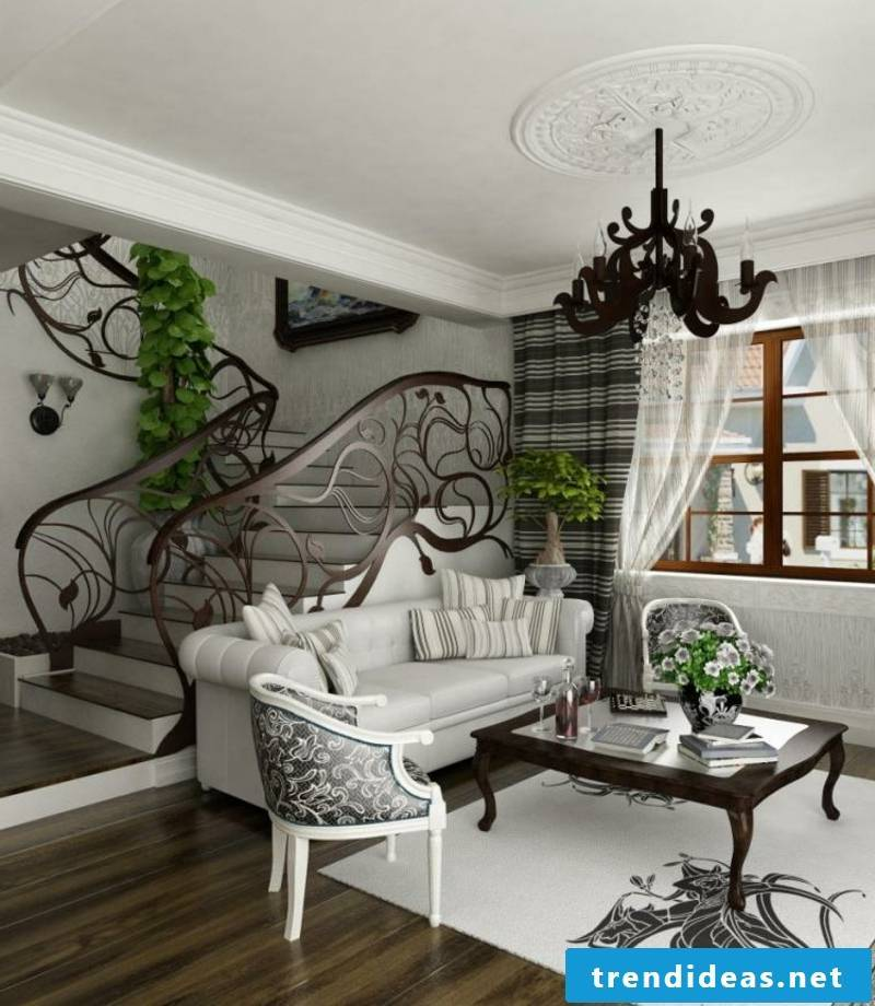modern living room in Baroque style
