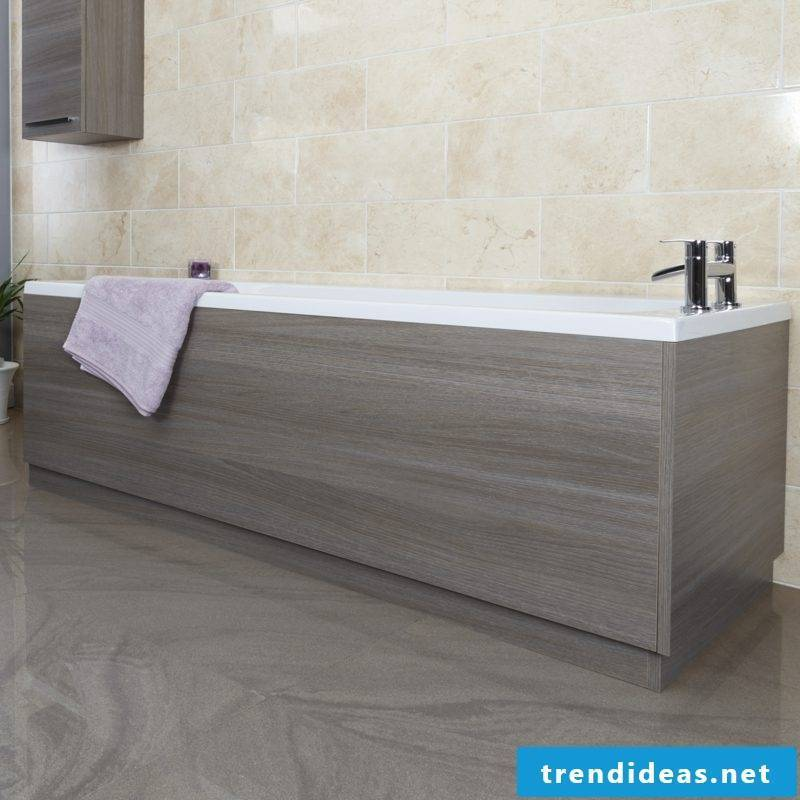 bathtub cover gray oak