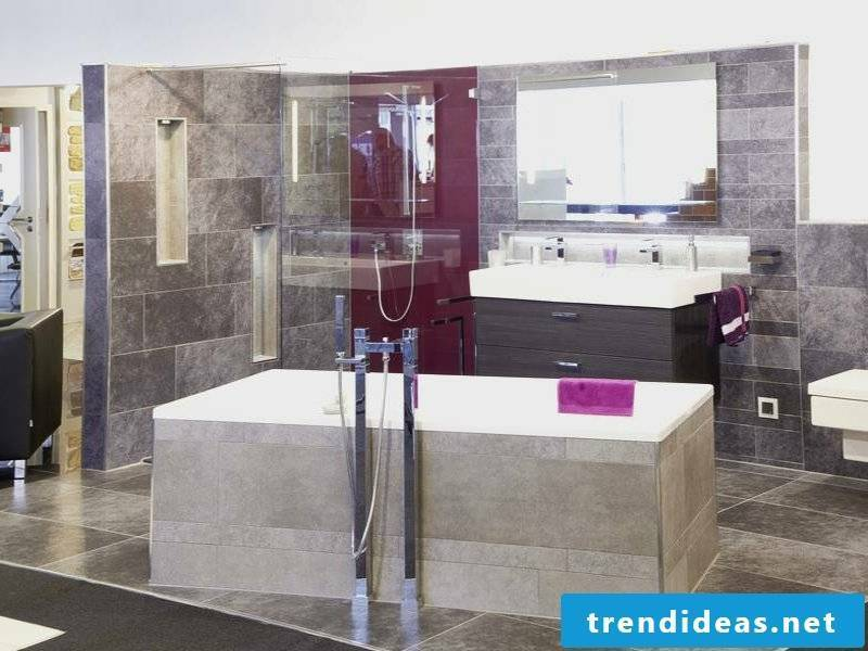 Glass partition in the bathroom