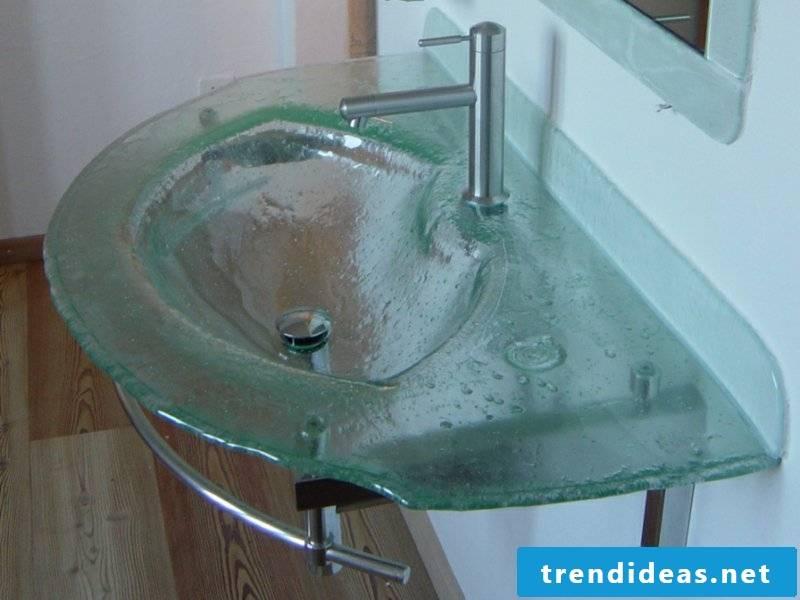 large designer glass washbasin