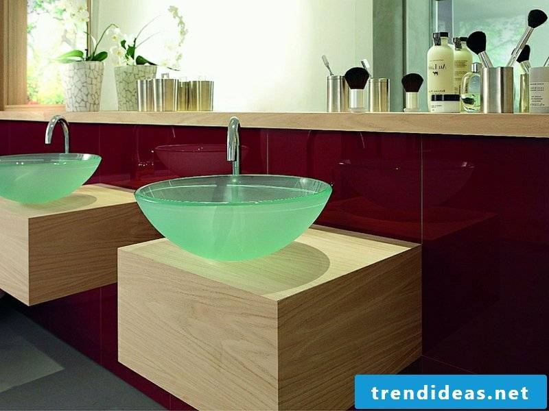 a small romantic glass sink