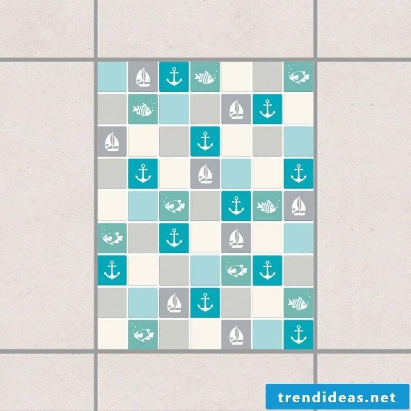 tile sticker for bathroom maritime