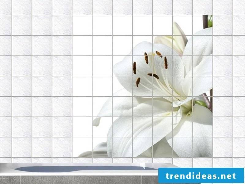 tile sticker for bathroom white