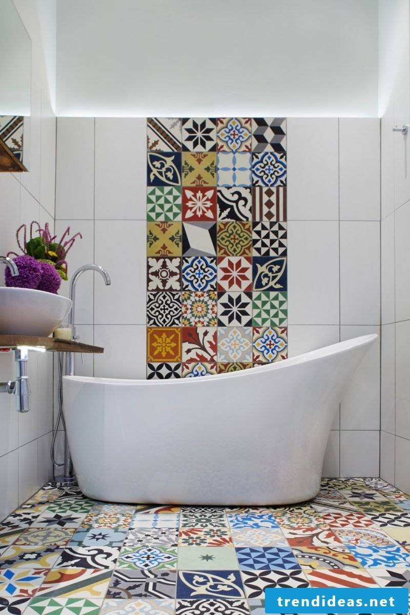 tile sticker for bath colorful