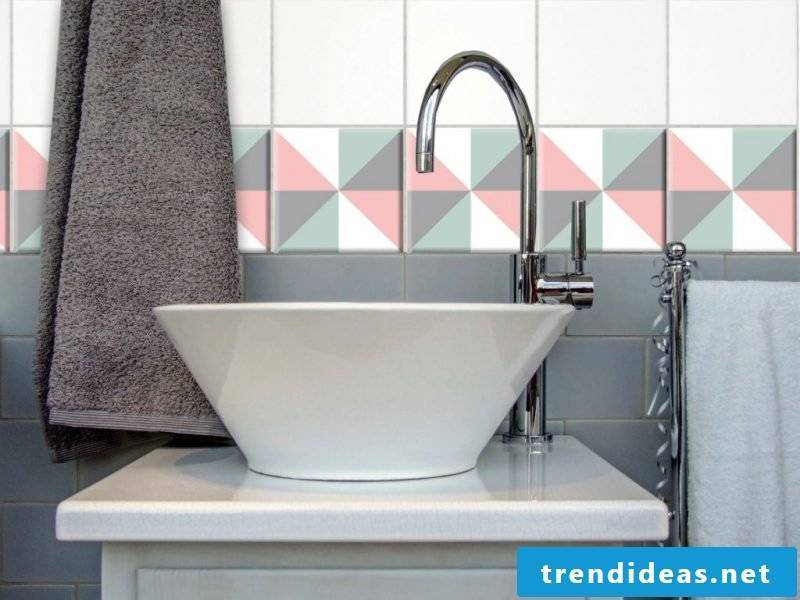 tile sticker for bath gray